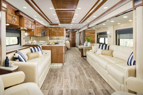 Interior of a cleaned RV